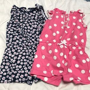 2 pack carters rompers